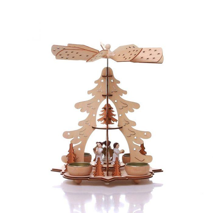 Коледен дървен свещник елха